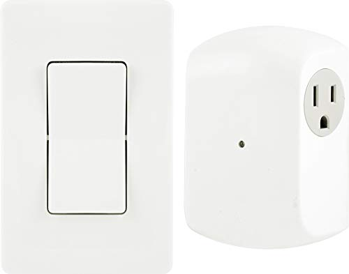GE Wireless Remote Wall Switch Control, No Wiring Needed, 1 Grounded...