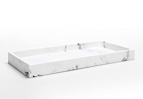SunnyPoint Faux Marble Jewelry Organizer Resin Tray, Dresser Vanity Tray...