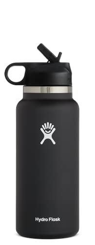Hydro Flask 32 oz. Water Bottle with Straw Lid - Stainless Steel, Reusable,...
