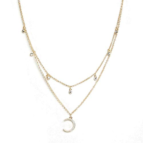 Ariana Grande Moon and Star Layer Necklace
