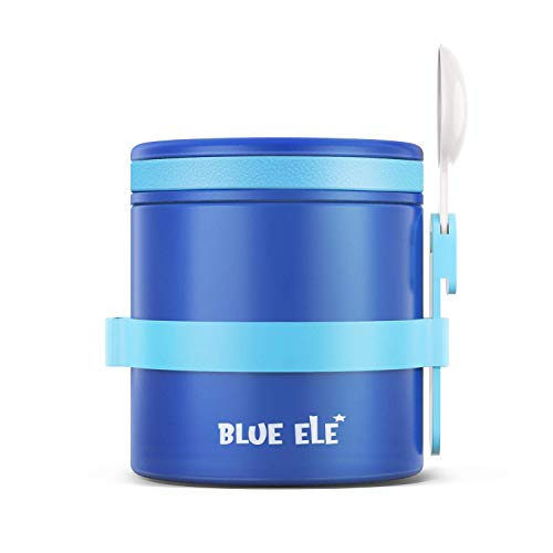 BLUE ELE Leakproof, Vacuum Insulated Thermos Hot Lunch Containers with...