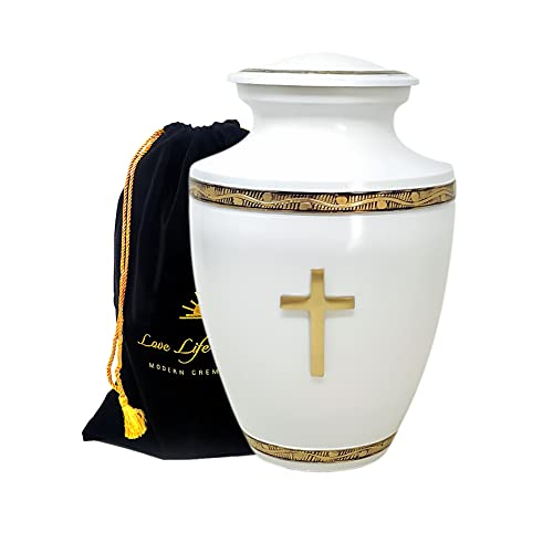 Love Life Beyond Urns for Human Ashes Adult Large- Holy Cross Cremation...