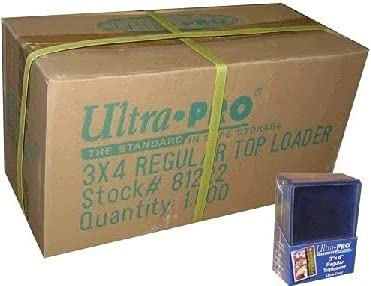 1000 x 3x4' Ultra Pro of Top Loaders for normal sized sports baseball...