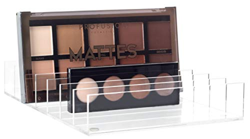 Mantello BPA-Free Acrylic 7-Section Divided Makeup Palette Organizer Holder...