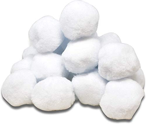 Gift Boutique 40 Pack Indoor Plush Snowballs White Christmas Fake Snowball...