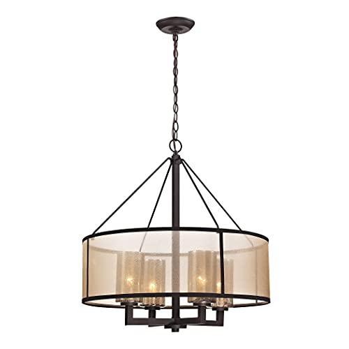 Elk Lighting 57027/4 Diffusion Collection 4 Light Chandelier, Oil Rubbed...