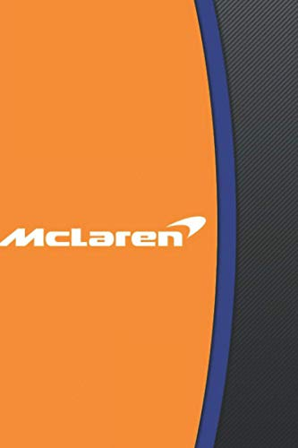 Mclaren F1 Team Logo Notebook: (110 Pages, Lined, 6 x 9)