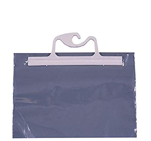 Monaco Hang-Up Portable Original Bag, 10 x 8-1/2 Inches, Clear, Pack of 10
