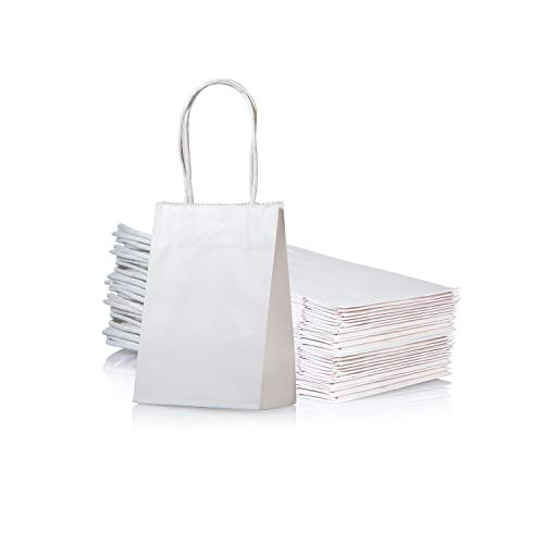 Mini Size White Paper Bag with Handle Party Favours Bag 6x4.5x2.5 inch for...
