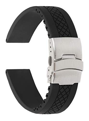 Textured Divers Clasp Watchband - 20mm