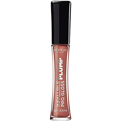 L'Oreal Paris Infallible Pro Gloss Plump Lip Gloss with Hyaluronic Acid,...