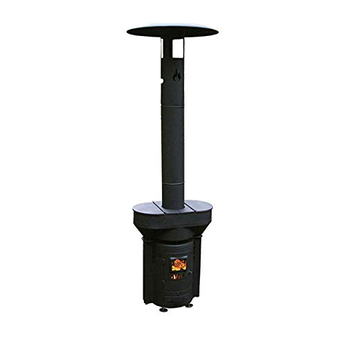 Q-Stoves Wood Pellet Outdoor Heater, Q-Flame Portable Eco-Friendly Heater,...