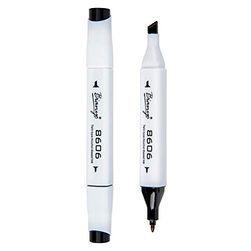 Bianyo Classic Series Alcohol-Based Dual Tip Art Markers(Single, Any one...