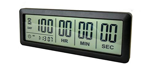 Digital 999 Days Countdown Timer Display time for Retirement Vacation Exam...