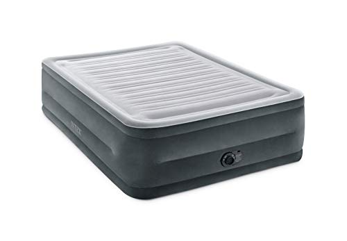 Intex Comfort Plush Elevated Dura-Beam Airbed with Internal Electric Pump,...
