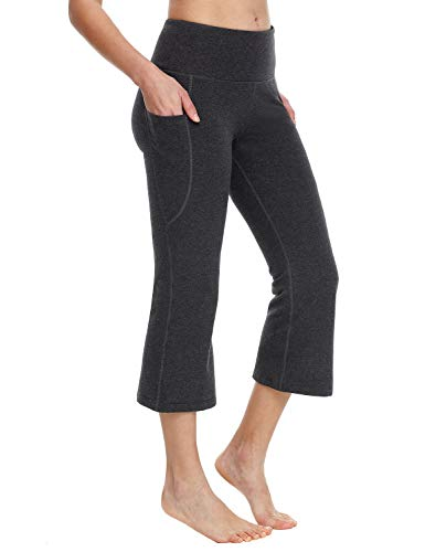 BALEAF Yoga Workout Capris for Women Lounge Flare Pants Casual Work Bootcut...