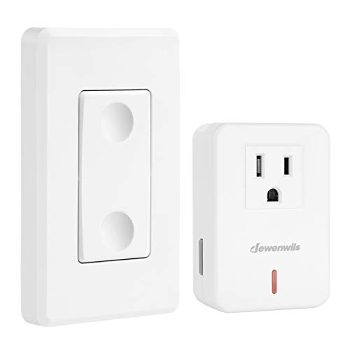 DEWENWILS Remote Control Outlet Wireless Wall Mounted Light Switch,...