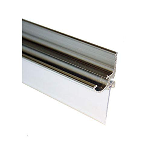 Chrome Framed Shower Door Replacement Drip Rail with Vinyl Sweep - 32' Long