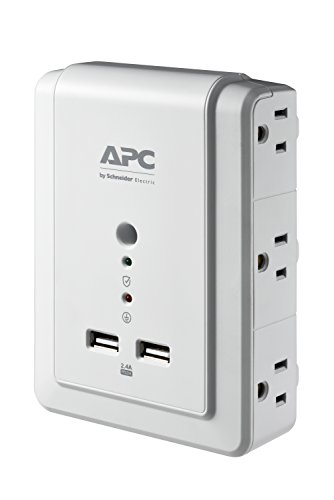 APC Wall Outlet Plug Extender, Surge Protector with USB Ports, P6WU2, (6)...