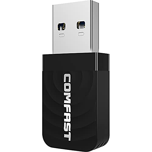 USB WiFi Adapter 1300mbps, Dual-Band Anti-Interference 5.8ghz/2.4ghz...
