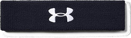 Under Armour Men's Performance Headband , Black (001)/White , One Size Fits...