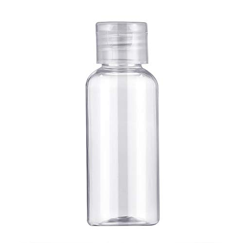 Yicare 20pcs Clear Plastic Empty Bottles Travel Containers with Flip Cap -...