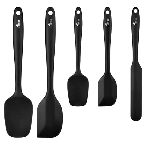 HOTEC Food Grade Silicone Rubber Spatula Set Kitchen Utensils for Baking,...