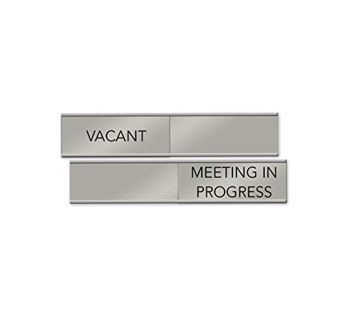 Vacant/Meeting In Progress Slider Sign, 6' x 1' (Silver)