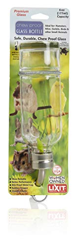 Lixit Glass Water Bottles for Rabbits, Guinea Pigs, Ferrets, Birds,...