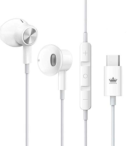 KINGONE USB C Headphones 2021 HiFi Stereo Type C Earbuds with Mic and...