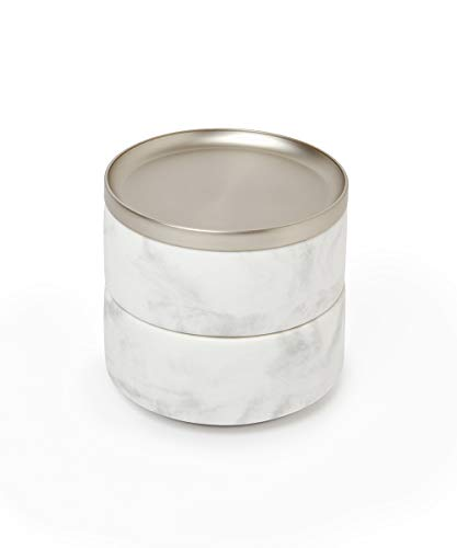 Umbra 299470-491 Tesora Jewelry Box, Two-Tier Resin Storage Container with...