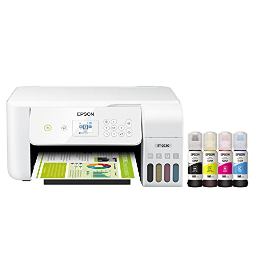 Epson EcoTank ET-2720 Wireless Color All-in-One Supertank Printer with...
