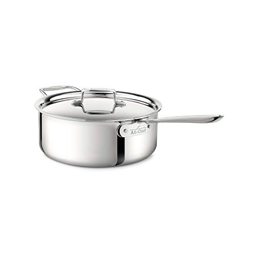 All-Clad 4206 Stainless Steel Tri-Ply Bonded Dishwasher Safe Deep Saute Pan...