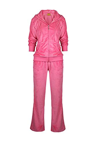 Womens Velour Tracksuit Set Soft Sports Zip Up Hoodie and Sweat Pants 2...