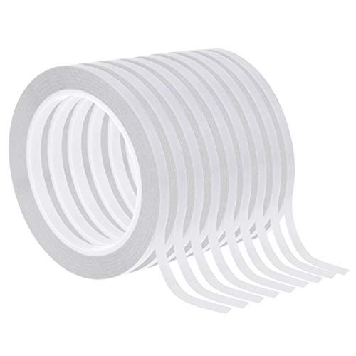 Double Sided Adhesive Tape, Cridoz 9 Rolls Double-Side Craft Tape for Card...