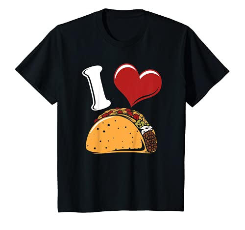 Kids I Love Tacos Funny Food Themed Taco Lover Gift T-Shirt