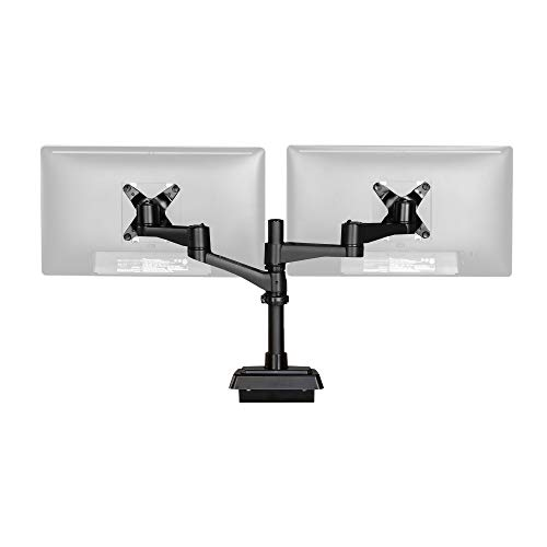 Vari Dual-Monitor Arm 180 Degree - Perfect for Tight Spaces and Cubicles -...
