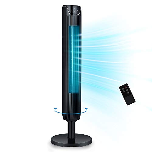 Tower Fan, 42 Inch Portable Oscillating Quiet Cooling Fan with Remote...