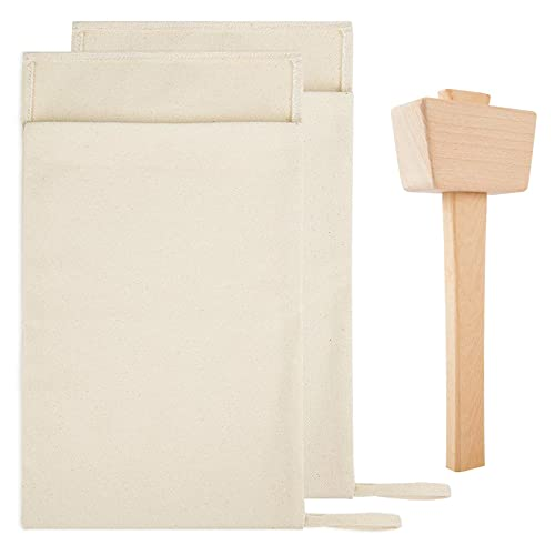 Pack of 2 Professional Lewis Bags and 1 Piece Ice Mallet Set-13.38 × 8.66...
