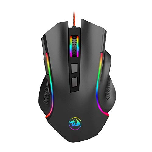 Redragon M602 RGB Wired Gaming Mouse RGB Spectrum Backlit Ergonomic Mouse...