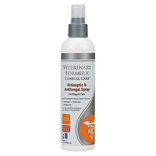 Veterinary Formula Clinical Care Antiseptic and Antifungal Spray for Dogs...