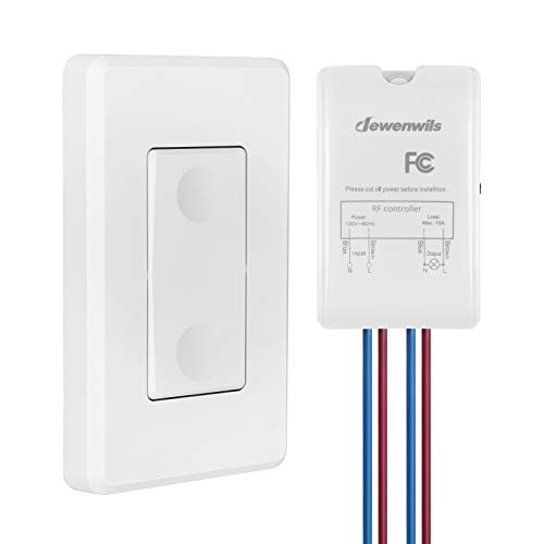DEWENWILS Wireless Light Switch and Receiver Kit, Wall Switch Remote...