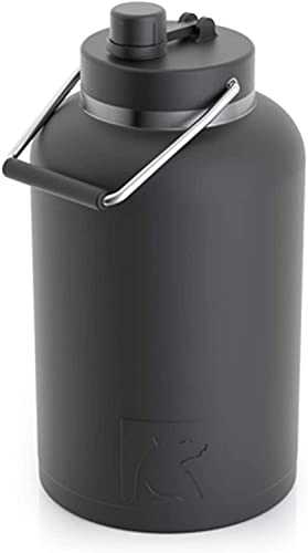 RTIC Jug with Handle, One Gallon, Black Matte, Large Double Vacuum...