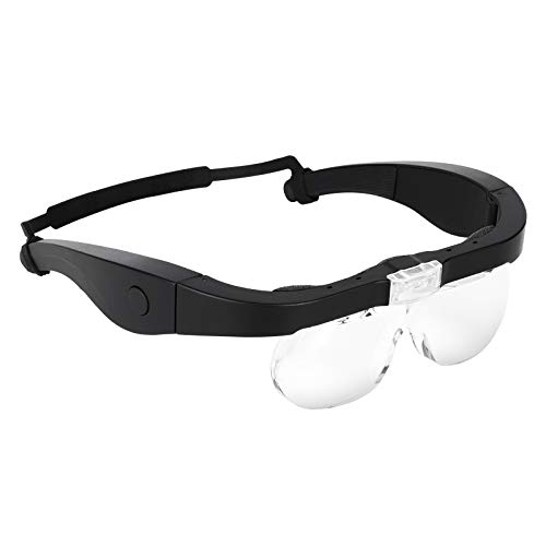 MORDUEDDE Lighted Head Magnifier Magnifying Glasses with Led Light...
