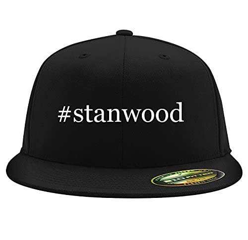 #Stanwood - Flexfit 6210 Structured Flat Bill Fitted Hat, Black,...