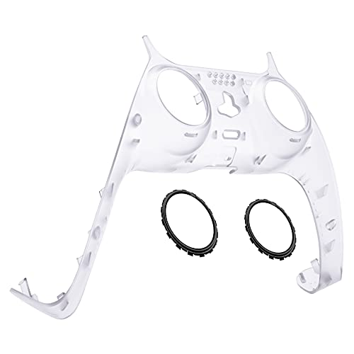 eXtremeRate Clear Decorative Trim Shell for PS5 Controller, DIY Replacement...