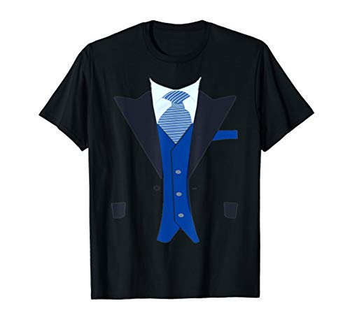 Funny Faux Fake Tuxedo Suit top with Vest and tie T-shirt T-Shirt