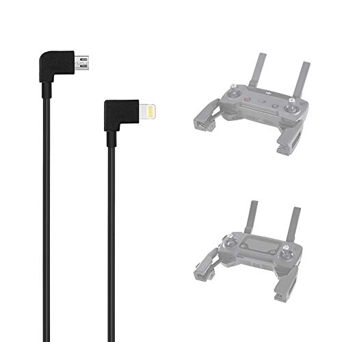 AxPower OTG Micro USB to iPhone IOS Cable 1ft Connector for DJI Spark Mavic...