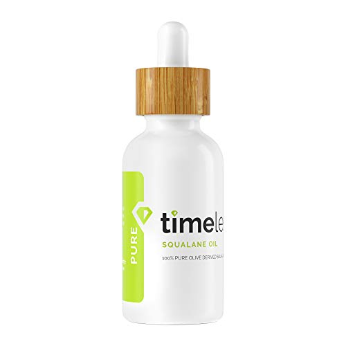 Timeless Skin Care Squalane Oil 100% Pure - 1 oz - Lightweight, Plant-Based...