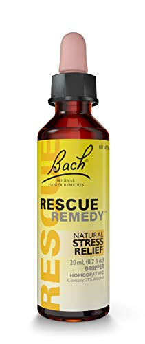 Bach RESCUE REMEDY Dropper 20mL, Natural Stress Relief, Homeopathic Flower...